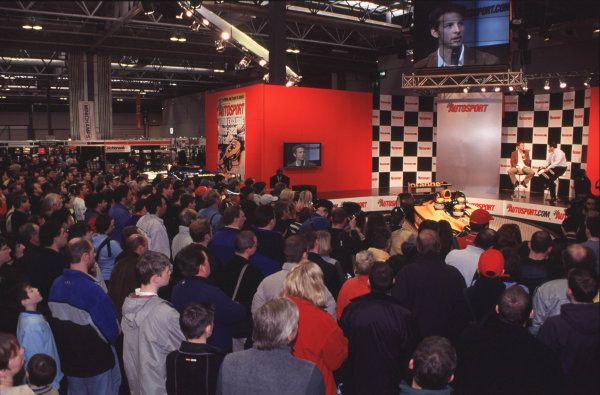 2001 Autosport International Show. NEC, Birmingham, England. 11th - 14th January 2001. Jenson Button World Copyright - Dixon / LAT Photographic ref: 01show10