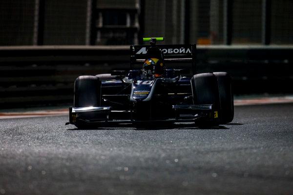 2016 GP2 Series Test 3 Yas Marina Circuit, Abu Dhabi, United Arab Emirates. Friday 2 December 2016. Artem Markelov (RUS, RUSSIAN TIME)  Photo: Zak Mauger/GP2 Series Media Service. ref: Digital Image _L0U4803