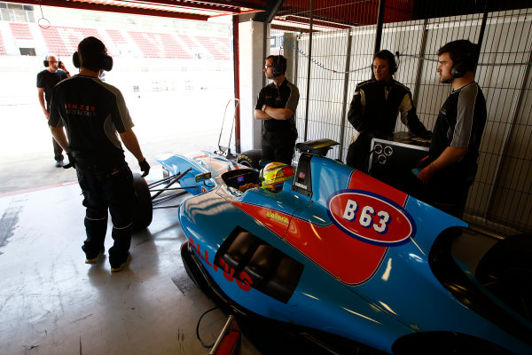 2015 GP3 Series Test 3 - Circuit de Catalunya, Barcelona, Spain. Thursday 23 April 2015. Pal Varhaug (NOR, Jenzer Motorsport)  Photo: Sam Bloxham/GP3 Series Media Service. ref: Digital Image _G7C0513