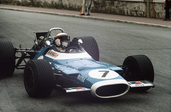Monte Carlo, Monaco.15-18 May 1969.Jackie Stewart (Matra MS80 Ford).Ref-35mm 69 MON 26.World Copyright - LAT Photographic