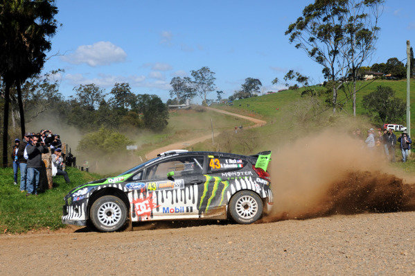 Ken Block (USA) Ford Fiesta RS WRC on stage 13. World Rally Championship, Rd10, Rally of Australia Day Two, Coffs Harbour, New South Wales, Australia, 10 September 2011.