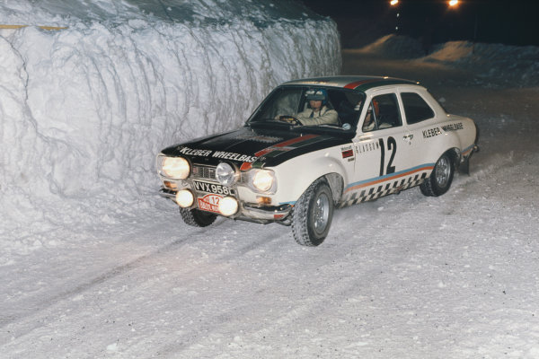 Monte Carlo, Monaco. 19-26 January 1973.Chris Sclater/John Davenport (Ford Escort RS1600), 16th position, action. World Copyright: LAT Photographic.Ref:  73WRC MC01