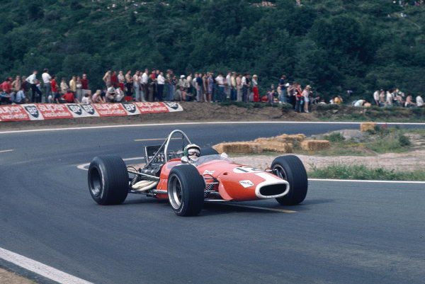 1969 French Grand Prix.Clermont-Ferrand, France.4-6 July 1969.Silvio Moser (Silvio Moser Racing/Brabham BT24 Ford) 7th position.Ref-69 FRA 03.World Copyright - LAT Photographic
