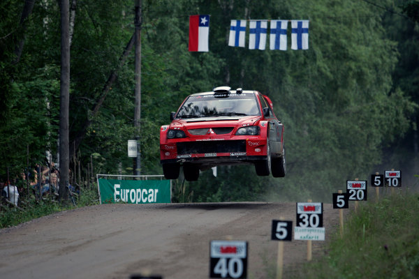 2004 FIA World Rally Champs. Round nine, Neste Rally Finland.5th - 8th August 2004.Kristian Sohlberg, Mitsubishi, ation.World Copyright: McKlein/LAT