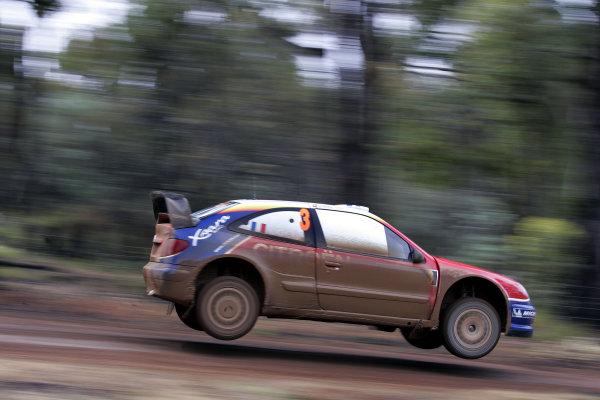 2004 FIA World Rally Champs. Round Sixteen, Rally Australia.11th - 14th November 2004.Sebastien Loeb, Citroen, action.World Copyright: McKlein/LAT
