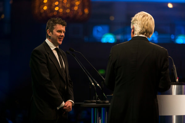 2015 Autosport Awards. Grosvenor House Hotel, Park Lane, London. Sunday 6 December 2015. Mark Higgins. World Copyright: Malcolm Griffiths/LAT Photographic. ref: Digital Image F80P2743