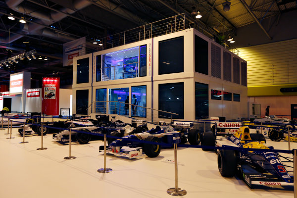 Autosport International Exhibition.  National Exhibition Centre, Birmingham, UK. Thursday 14 January 2016.  The Williams Motorhome in the NEC. World Copyright: Zak Mauger/LAT Photographic. ref: Digital Image _L0U0784