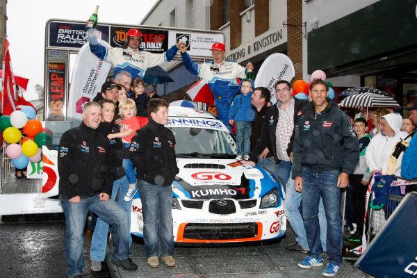 2013 Ulster Rally, Enniskillen. 23rd - 24th August 2013. Garry Jennings / Rory Kennedy - Subaru Impreza WRC. World Copyright: Ebrey / LAT Photographic.