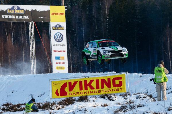 2017 FIA World Rally Championship, Round 02, Rally Sweden, February 09-12, 2017, Pontus Tidemand, Skoda, Action, Worldwide Copyright: McKlein/LAT