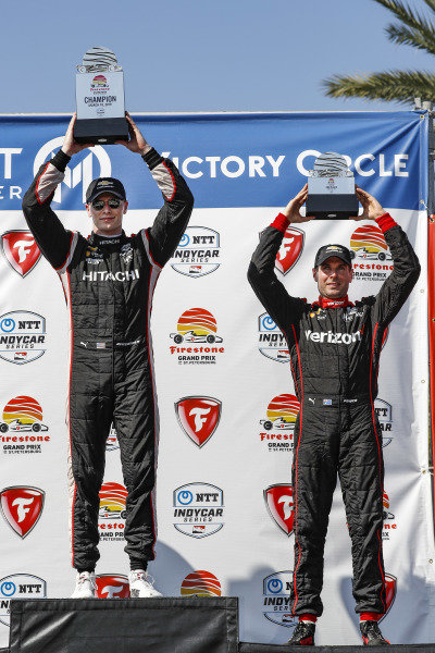 Josef Newgarden, Team Penske Chevrolet, Will Power, Team Penske Chevrolet, podium