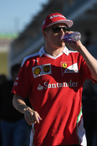 Kimi Raikkonen (FIN) Ferrari at Formula One World Championship, Rd18, United States Grand Prix, Practice, Circuit of the Americas, Austin, Texas, USA, Friday 21 October 2016.