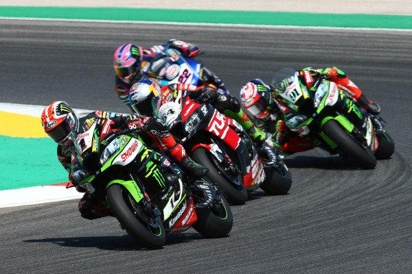 Jonathan Rea, Kawasaki Racing Team, Toprak Razgatlioglu, Turkish Puccetti Racing, Leon Haslam, Kawasaki Racing Team.