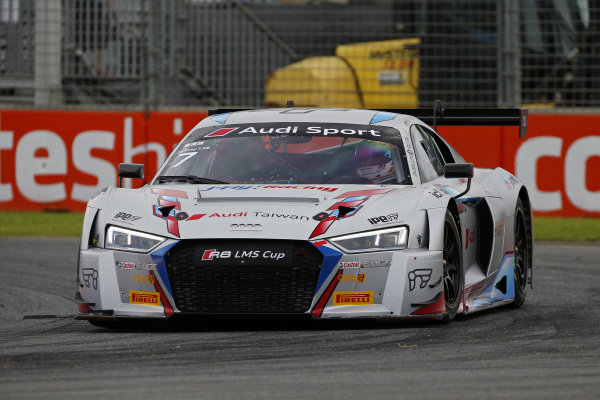 Jeffrey Lee (TPE) Team Audi Volkswagen Taiwan at Audi R8 LMS Cup, Rd1 and Rd2, Adelaide, Australia, 2-4 March 2018.