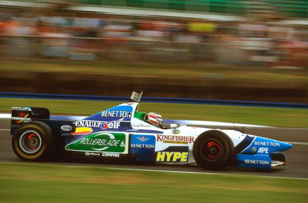 Silverstone, England.12-14 July 1996.Gerhard Berger (Benetton B196 Renault) 2nd position.Ref-96 GB 22.World Copyright - LAT Photographic