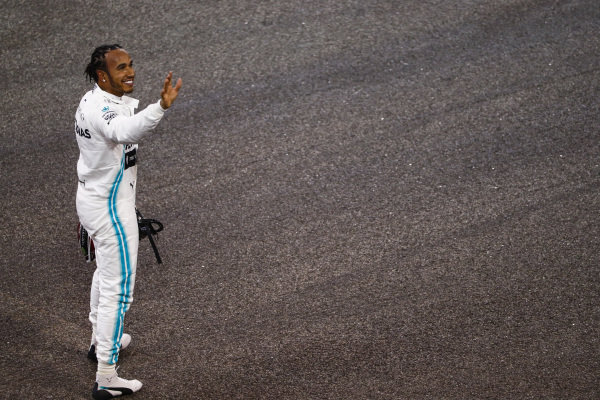 Lewis Hamilton, Mercedes AMG F1, celebrates after securing pole