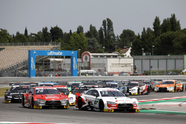 Start action, René Rast, Audi Sport Team Rosberg, Audi RS 5 DTM leads.