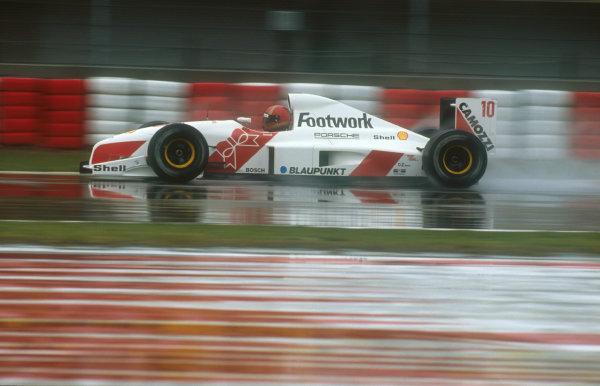 1991 San Marino Grand Prix.Imola, Italy.26-28 April 1991.Alex Caffi (Footwork FA12 Porsche). He failed to qualify.Ref-91 SM 20.World Copyright - LAT Photographic