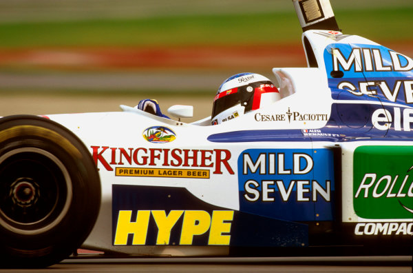 Montreal, Quebec, Canada.14-16 June 1996.Jean Alesi (Benetton B196 Renault) 3rd position.Ref-96 CAN 11.World Copyright - LAT Photographic