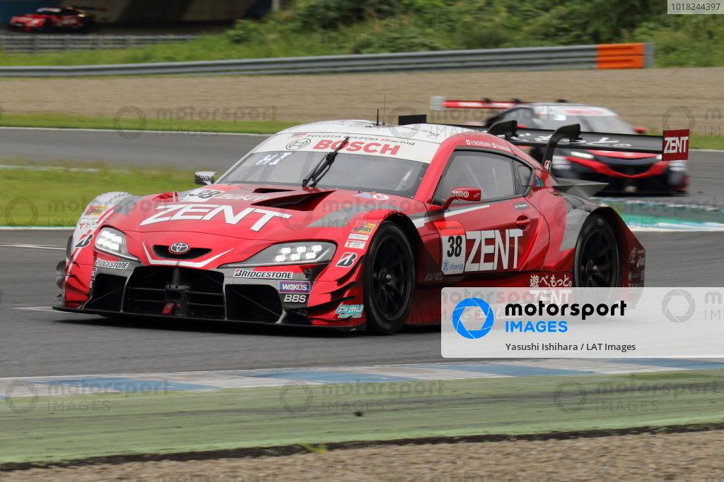 GT500 2nd position Yuji Tachikawa & Hiroaki Ishiura ( #38 ZENT GR Supra ) action