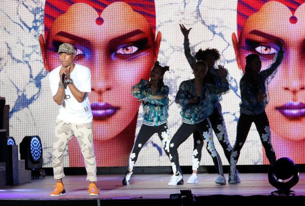 Pharrell Williams (USA), Singer in concert at Formula One World Championship, Rd8, European Grand Prix, Race, Baku City Circuit, Baku, Azerbaijan, Sunday 19 June 2016.