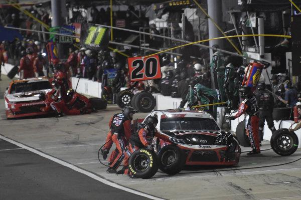 #20: Christopher Bell, Joe Gibbs Racing, Toyota Supra Ruud, makes a pit stop